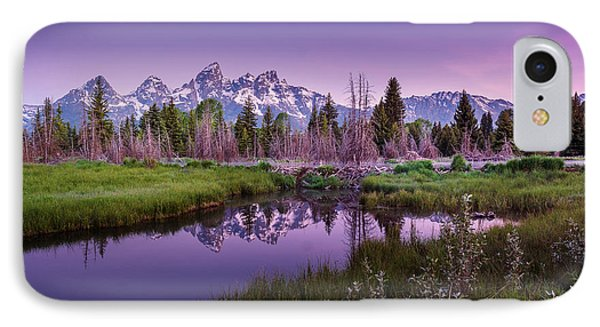 Tetons In Pink IPhone Case