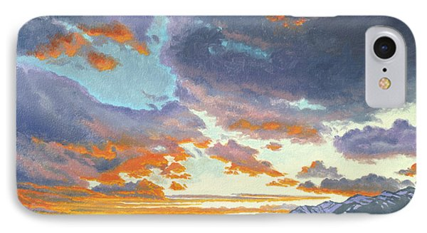 Tetons-looking South At Sunset IPhone Case
