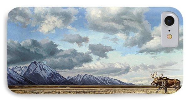 Tetons-moose IPhone Case by Paul Krapf