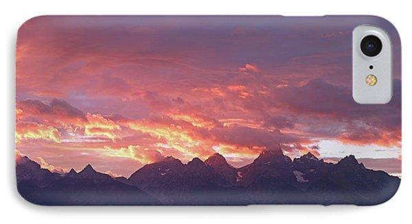 Tetons Sunset IPhone Case