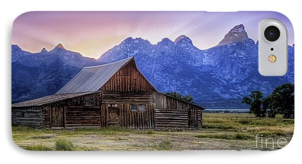 Tetons Sunset IPhone Case