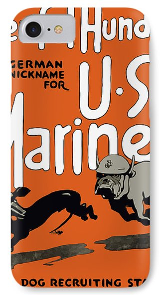 Teufel Hunden - German Nickname For Us Marines Phone Case by War Is Hell Store