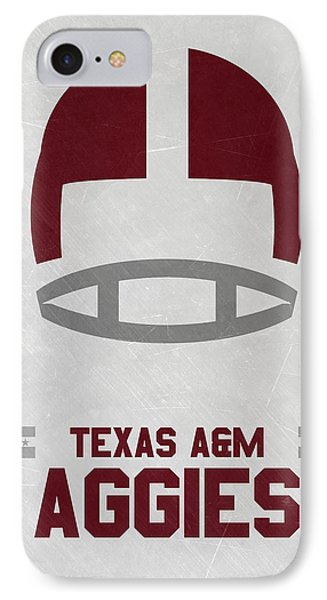 Texas A M Aggies Vintage Football Art IPhone Case