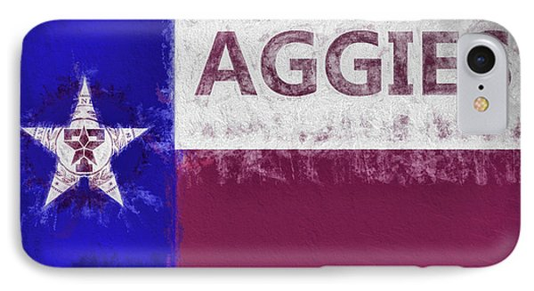 Texas Aggies State Flag IPhone 7 Case by JC Findley