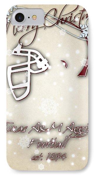 Texas Am Aggies Christmas Card 2 IPhone Case by Joe Hamilton