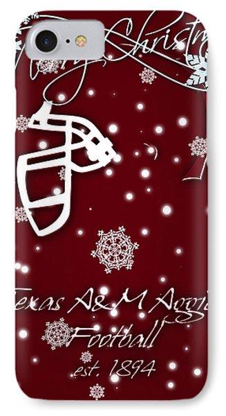 Texas Am Aggies Christmas Card IPhone Case by Joe Hamilton