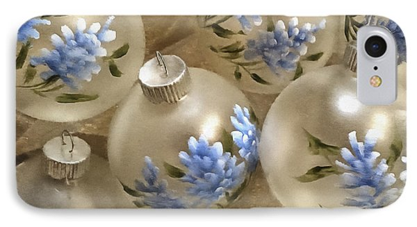 Texas Bluebonnet Ornaments IPhone Case by Betty Denise
