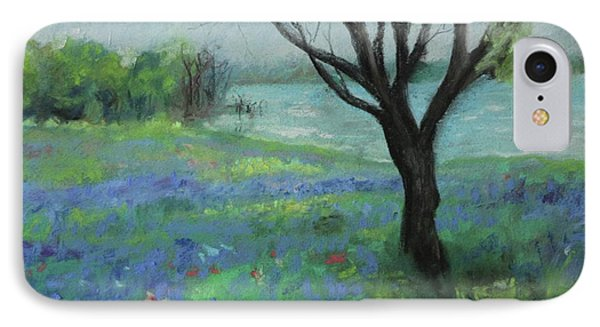 IPhone Case featuring the painting Texas Bluebonnet Trail by Robin Maria Pedrero
