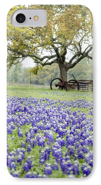Texas Bluebonnets And Rust IPhone Case by Debbie Karnes