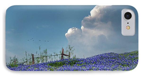 IPhone Case featuring the photograph Texas Bluebonnets And Spring Showers by David and Carol Kelly