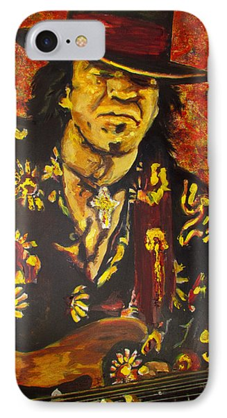 Texas Blues Man- Srv IPhone Case by Eric Dee