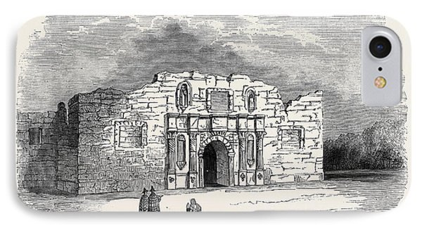 Texas  Church Of Alamo, San Antonio De Bexar IPhone Case by American School