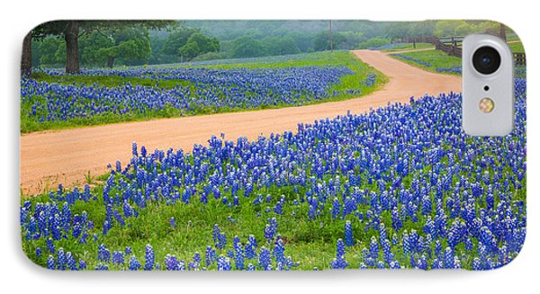 Texas Country Road IPhone Case by Inge Johnsson