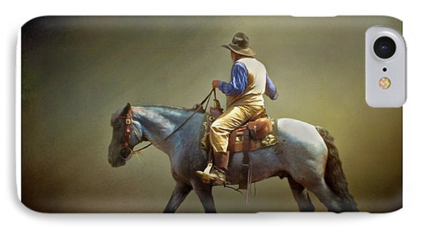 IPhone Case featuring the photograph Texas Cowboy And His Horse by David and Carol Kelly