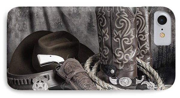 Texas Lawman IPhone Case by Tom Mc Nemar