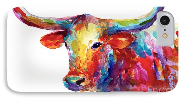 Texas Longhorn Art IPhone 7 Case by Svetlana Novikova