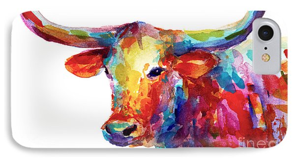 Texas Longhorn Art IPhone 7 Case by Svetlana Novikova