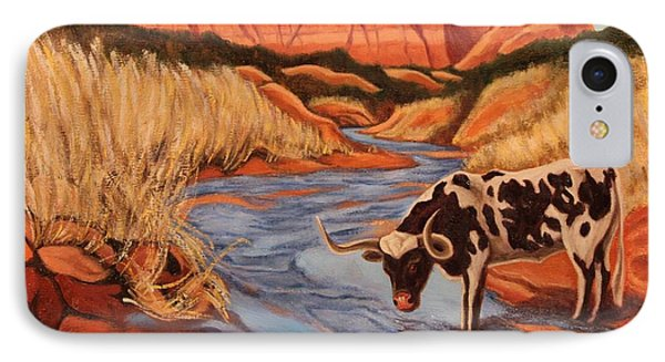 Texas Longhorn In Palo Duro Canyon IPhone Case