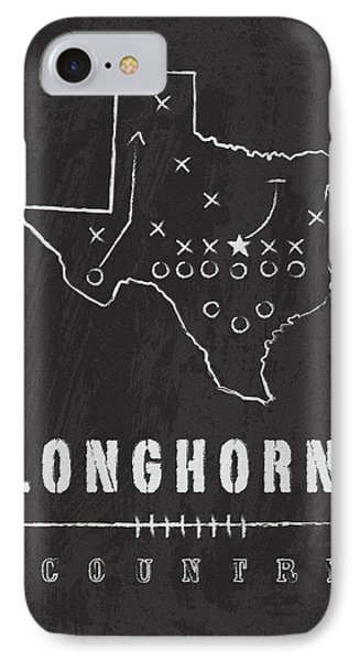 Texas Longhorns Country IPhone Case by Damon Gray