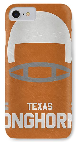 Texas Longhorns Vintage Football Art IPhone Case by Joe Hamilton