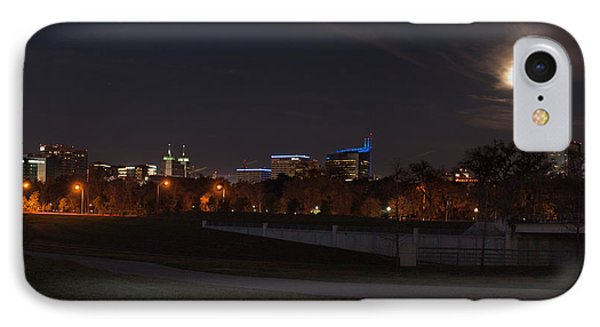 IPhone Case featuring the photograph Texas Medical Center Moonset by Joshua House