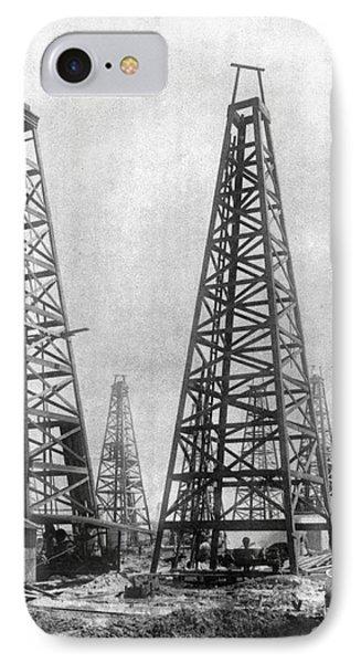 Texas: Oil Derricks, C1901 Phone Case by Granger