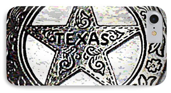 IPhone Case featuring the photograph Texas Ranger Badge by George Pedro