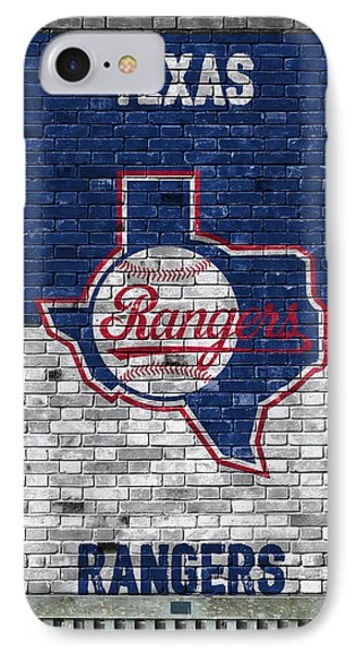 Texas Rangers Brick Wall IPhone Case by Joe Hamilton