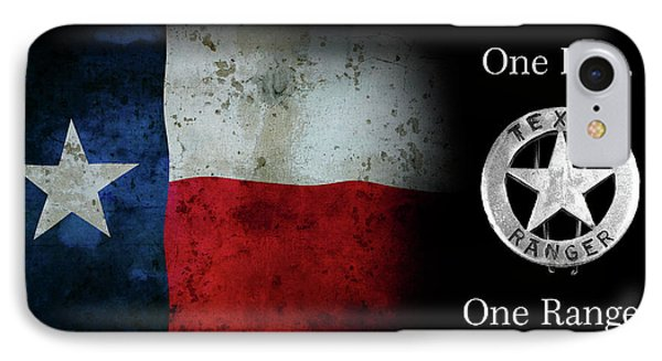 Texas Rangers Motto - One Riot, One Ranger  2 IPhone Case by Daniel Hagerman