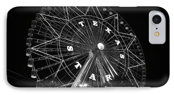 Texas Star 061116 V2bw IPhone Case