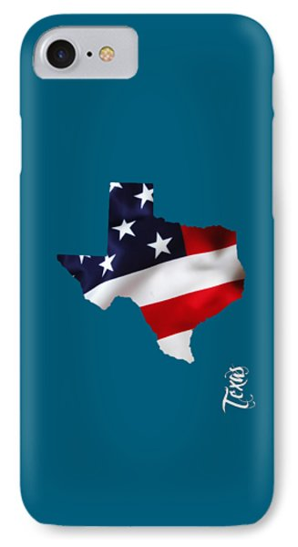 Texas State Map Collection IPhone Case