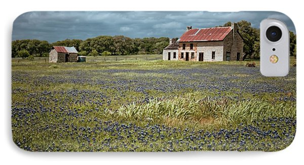 IPhone Case featuring the photograph Texas Stone House by Linda Unger