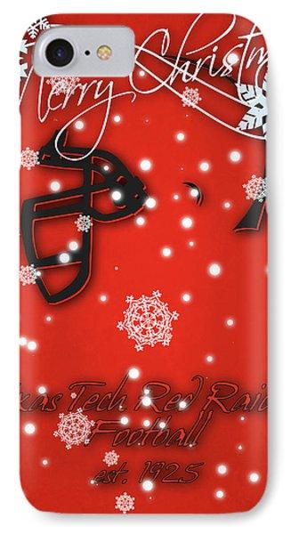 Texas Tech Red Raiders Christmas Card IPhone Case by Joe Hamilton