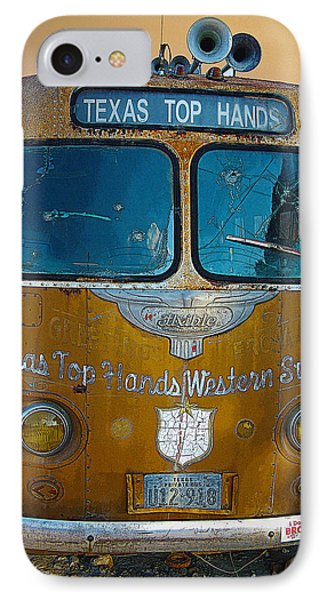 IPhone Case featuring the photograph Texas Top Hands by Jim Mathis