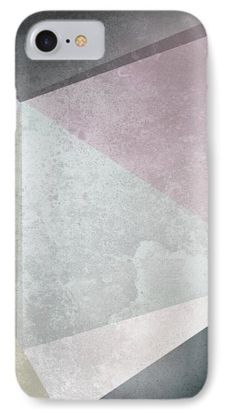 Textured Geometric Triangles IPhone Case