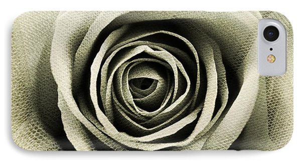 Textured Sepia Rose IPhone Case by Clare Bevan