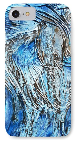 Textured Woman Posing IPhone Case by Angela Stout