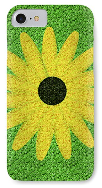 Textured Yellow Daisy IPhone Case by Smilin Eyes  Treasures