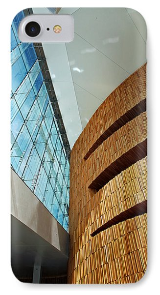 Textures And Light Inside Oslo Opera House IPhone Case by Kabir Khiatani