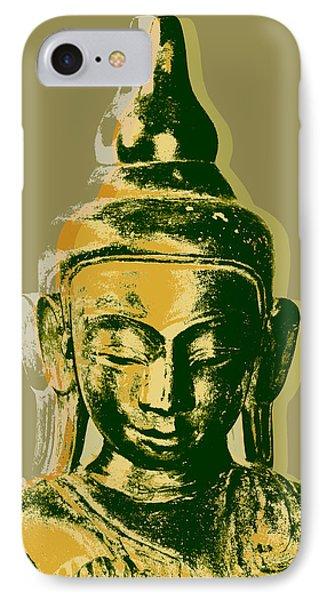 IPhone Case featuring the digital art Thai Buddha #4 Pop Art Warhol Style Print.  by Jean luc Comperat