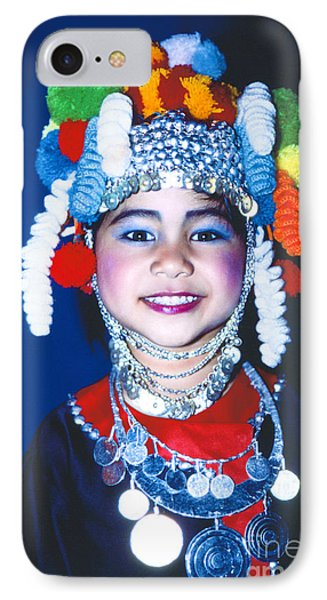 IPhone Case featuring the photograph Thai Girl Traditionally Dressed by Heiko Koehrer-Wagner