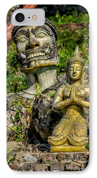 Thai Statues IPhone Case by Adrian Evans