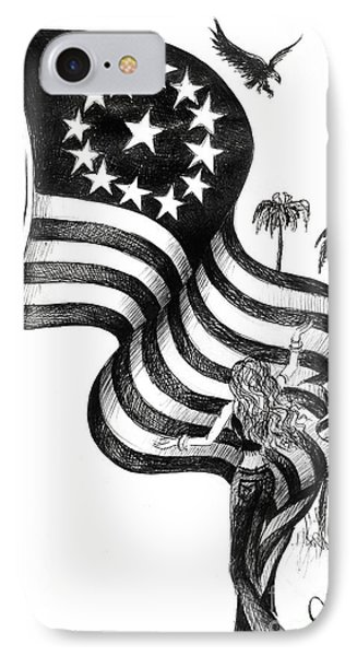 Thank You Old Glory IPhone Case by Sofia Metal Queen
