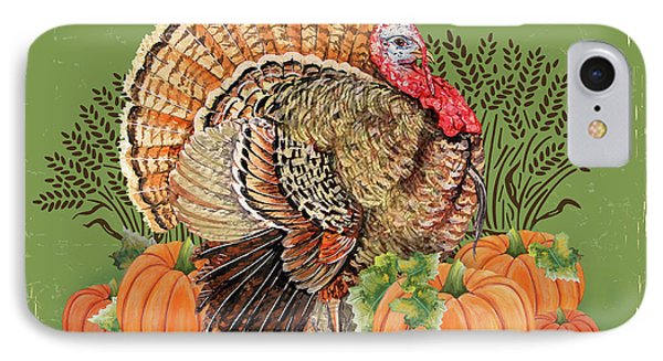 IPhone Case featuring the painting Thanksgiving-b by Jean Plout