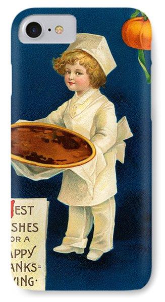 Thanksgiving Card IPhone Case by Ellen Hattie Clapsaddle