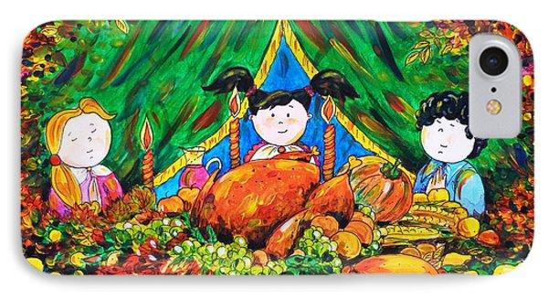 Thanksgiving Day Phone Case by Zaira Dzhaubaeva