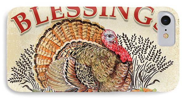 IPhone Case featuring the painting Thanksgiving-e by Jean Plout