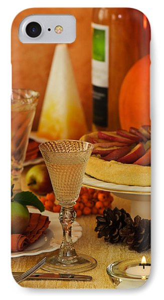 Thanksgiving Table IPhone Case by Amanda Elwell