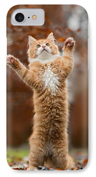 That Mouse Was This Big -red Haired Kitten IPhone Case by Roeselien Raimond