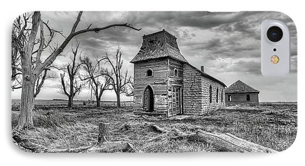 IPhone 7 Case featuring the photograph That Old Time Religion Black And White by JC Findley